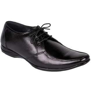 D4U Pure Leather Black Lace Up Shoes - 83801443