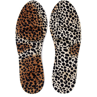 Footful 1 Pair Of Women's Breathable Foam Shoe Insoles With Arch Heel Support Leopard Print