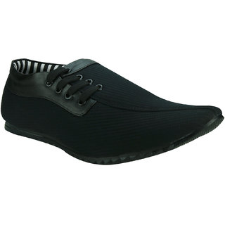 AZAZO Men Slip On Black Casual Shoes - 83905015