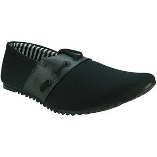 AZAZO Men Slip On Black Casual Shoes