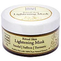 Skin Lightening Mask With Sandal Saffron  Turmeric
