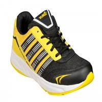 Jollify Mens Vomax Black And Yellow Sport Shoes
