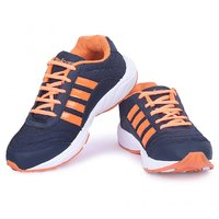 Men's Trendy Navy And Orange Lace Sport Shoes