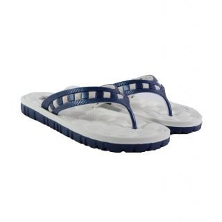 Fax Comfortable And Stylish Slippers For Mens Oval Wht