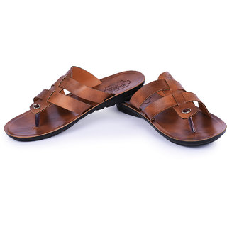 A-FUTURE BROWN COMFORTABLE AND STYLISH SLIPPERS FOR MEN ATC-3