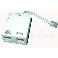 ADSL Telephone Line Modem Fax Phone Splitter RJ 11 WITH FOUR PROTECTION FILTER