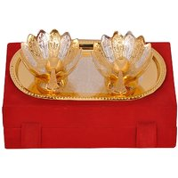 Ganpati Enterprises Gold & Silver Plated Brass Bowl Set