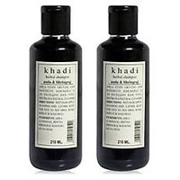 Khadi Herbal Amla  Bhringraj Shampoo- Sls  Paraben Free - 210ml (Set Of 2)