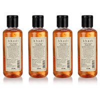 Khadi Herbal Henna Tulsi Shampoo - 210ml (Set Of 4)