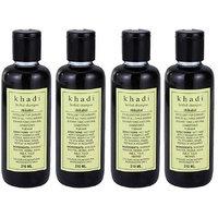 Khadi Herbal Shikakai Shampoo - 210ml (Set Of 4)