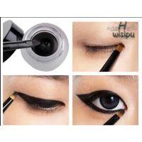 Gel Cream Waterproof Eye Liner Black Eyeliner Makeup Cosmetic With Brush