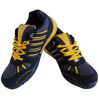 Lancer Sweden Navy Blue  Yellow Stylish Sports Shoes For Men