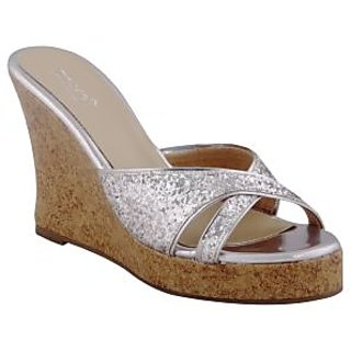 Zaera  Ladies Wedges / Sandals / Heels   MY FAV PARTY WEDGE  ZDF0124  SILVER