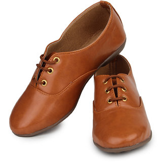 Do Bhai Women's Girls Shoes Tan