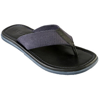 ESTD .1977 Men Casual Blue Leather Branded Slippers