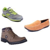 Lotto Vigor Green Shoe With Boot And Loafer For Men