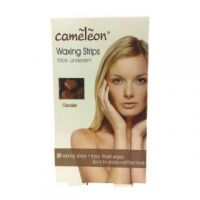 Cameleon Chocolate Waxing Strips For Face And Underarm-20 Wax Strips