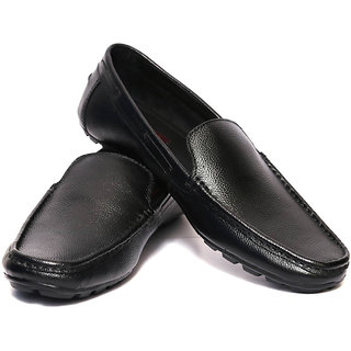 Adler Black Genuine Leather Loafers