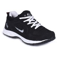 LEEDAS BLACK COMFORTABLE AND TRENDY LIGHT WEIGHT SPORTS SHOES FOR MEN 2014BK