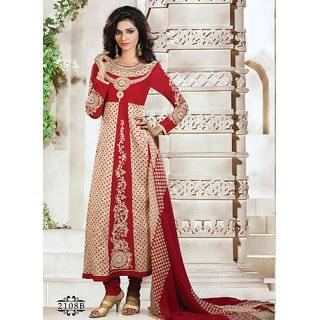 Royal Touch Red & Cream Salwar Suit