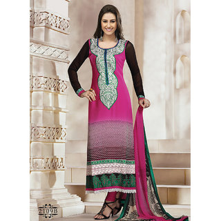 Marvelous Pink Churidar Salwar Suit