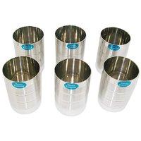 Stainless Steel Glasses (Set Of 6 Pcs)