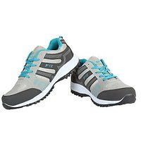Fitze Men's Grey And Black Sports Shoes