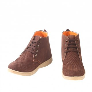 Kimichi Men Brown Leather Casual Shoe