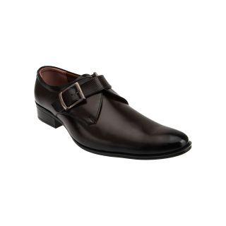 Tycoon Mens Formal Shoes - Brown - Synthetic Leather - Monk Strap Shoes