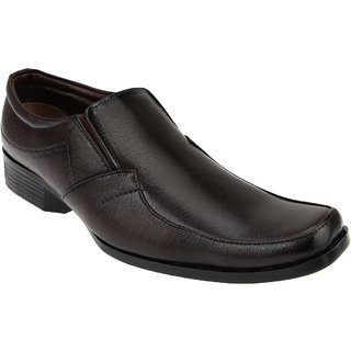 Tycoon Mens Formal Shoes - Brown - Synthetic Leather - Slip On Shoes