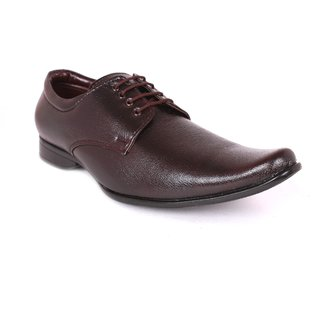 Tycoon Mens Formal Shoes - Brown - Synthetic Leather - Lace Up Shoes - 85071510