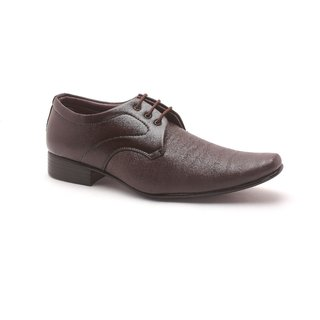 Tycoon Mens Formal Shoes - Brown - Synthetic Leather - Lace Up Shoes - 85083508