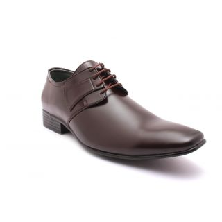 Tycoon Mens Formal Shoes - Brown - Synthetic Leather - Lace Up Shoes