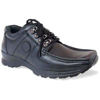 Genuine Leather Stylish Black Lace Up Formal Shoes STPS-77