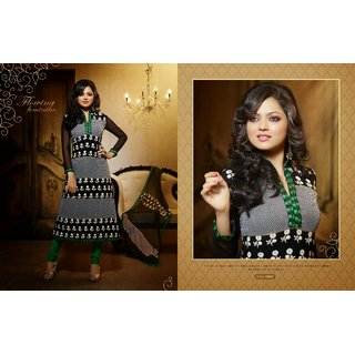 Beauteous Black Churidar Salwar Suit