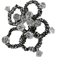 Adbeni Colourful Black  White Resham Thread Coated Rubber Hair Bands Good Choic