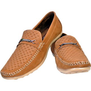 BritishWears Casual Shoes For Men  Brown  Leather Loafer For Men