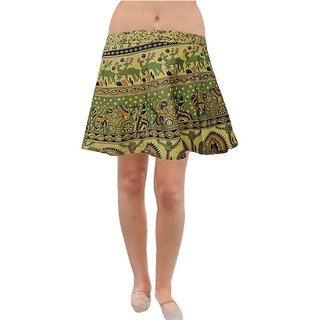 Pezzava: Design Women's Wear Cotton Short Mini Wrap Around Skirt SKT-WMC-A0034