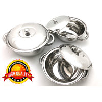 3 Pcs Stainless Steel Serving Bowl | Donga | Gift Set