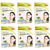 Ganpati Herbal Cucumber Face Pack 25 Gms Set Of 6