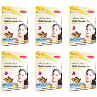 Ganpati Herbal Haldi Chandan Face Pack 25 Gms Set Of 6
