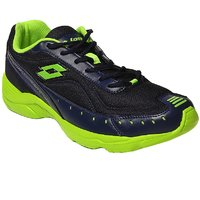 Lotto Rapid Black And Green Men Running Shoes - AR3181
