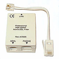 1 ADSL Splitter 2 Telephone, ADSL Modem Line Cable, RJ11 Telephone Wire
