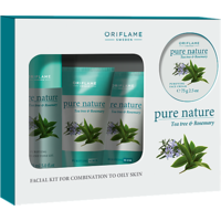 Pure Nature Tea Tree And Rosemary Facial Kit For Oily To Combination Skin