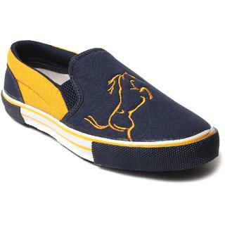Rexona Mens Casual Canvas Sneaker - -NAVY-YELLOW