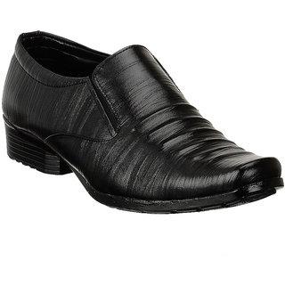 Shoe Island Slip-On Black Formal Shoes - 85637243