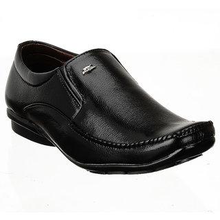 Shoe Island Slip-On Black Formal Shoes - 85637246