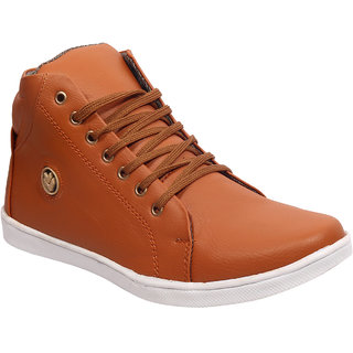 Shoe Island SI2020 Tan Brown Ankle Length Casual Shoes