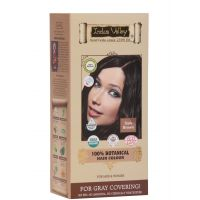 Indus Valley 100 Botanical Organic Healthier Hair Colour, DARK BROWN