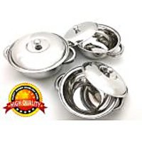 3 Pcs Stainless Steel Serving Bowl | Donga | Gift Set - 85657782